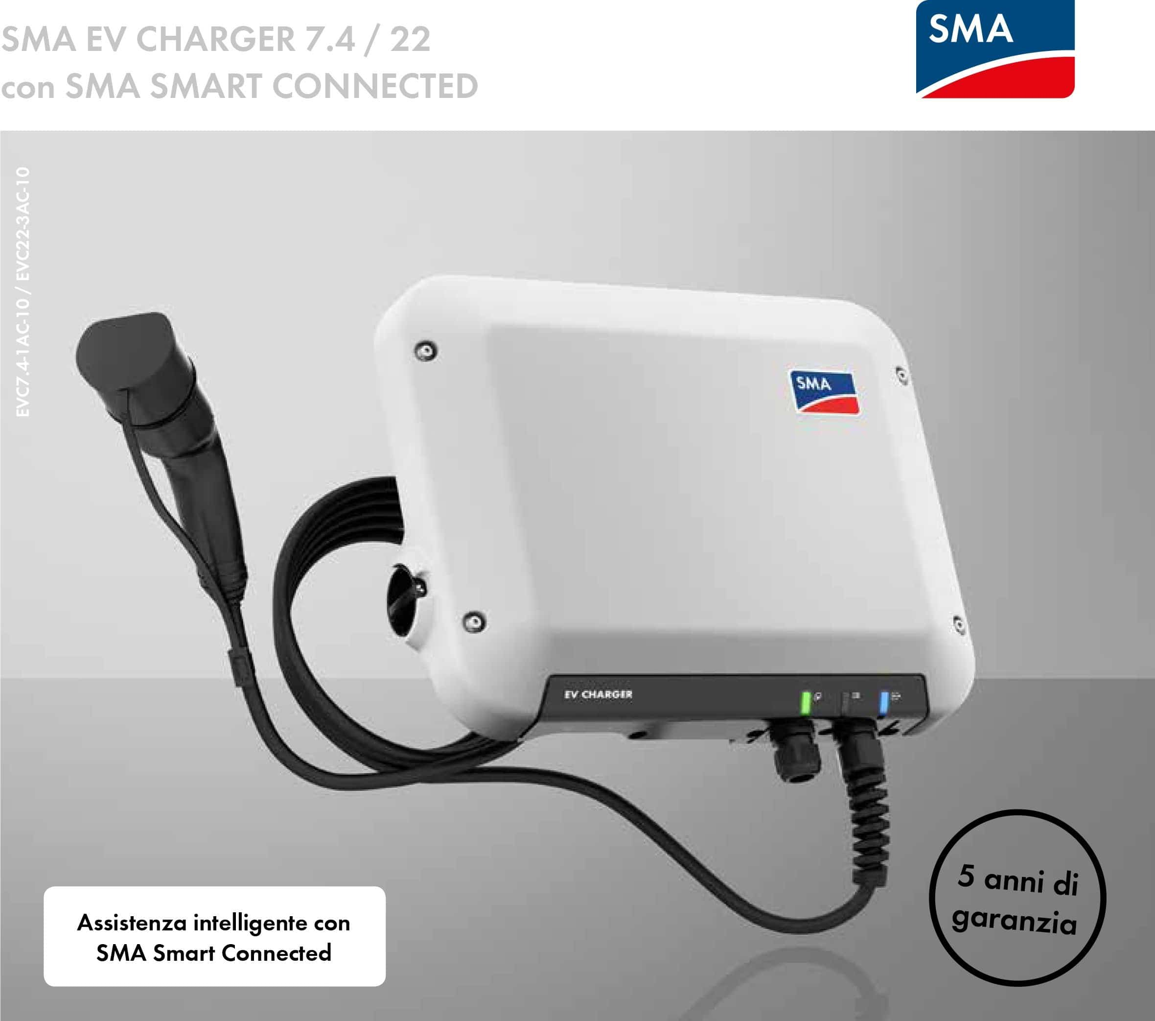 EV CHARGER 7.4:22 con SMA SMART CONNECTED